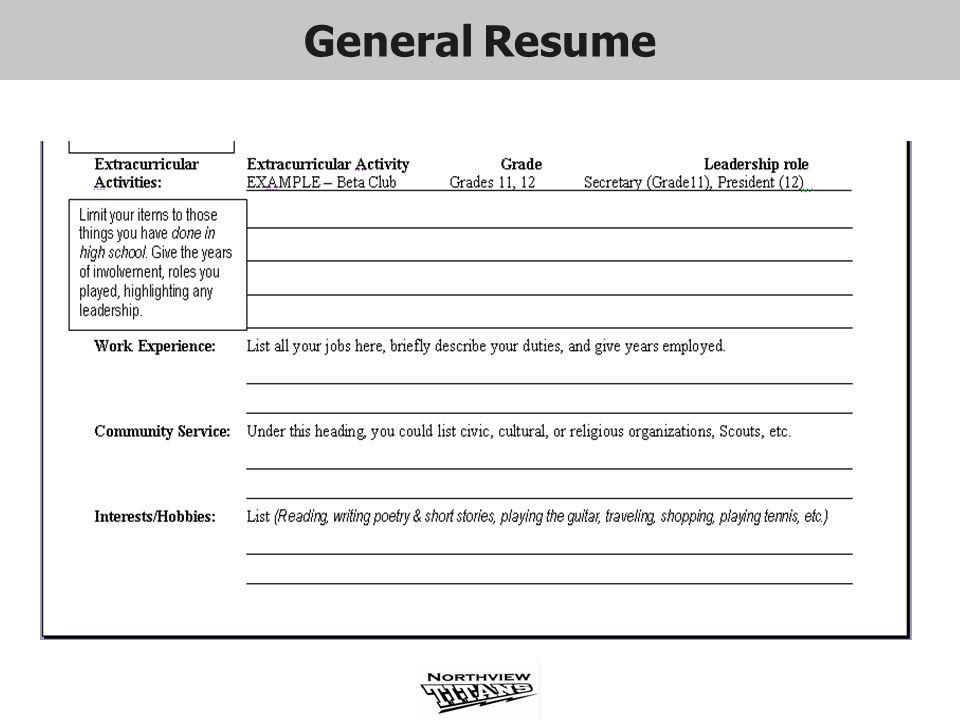 General Resume General Resume