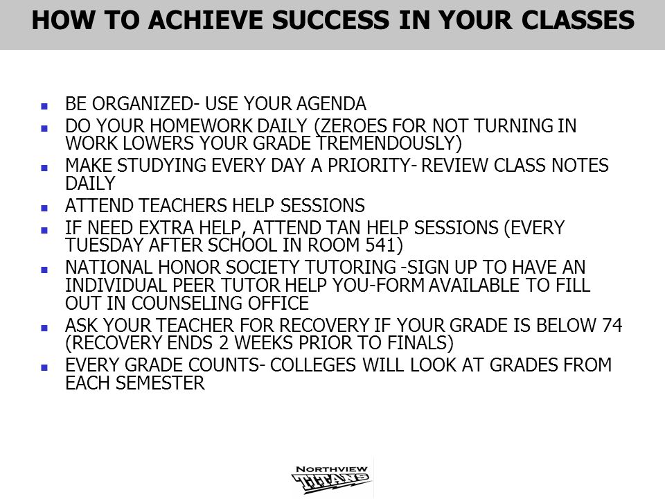 HOW TO ACHIEVE SUCCESS IN YOUR CLASSES