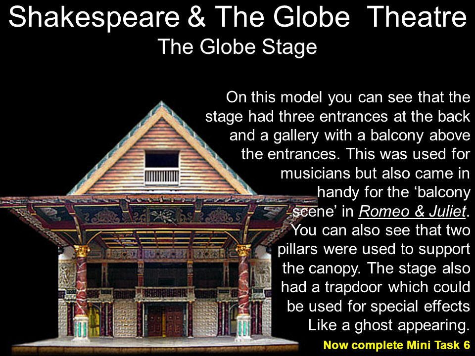 Shakespeare & The Globe Theatre The Globe Stage