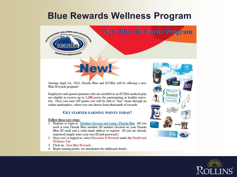 Blue Rewards Wellness Program