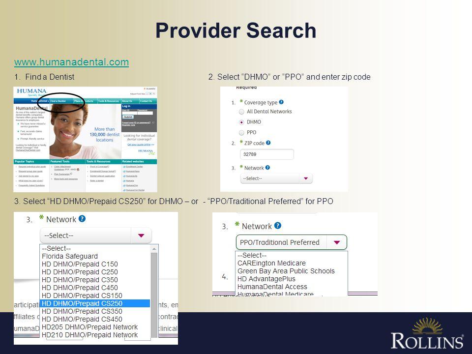 Provider Search www.humanadental.com