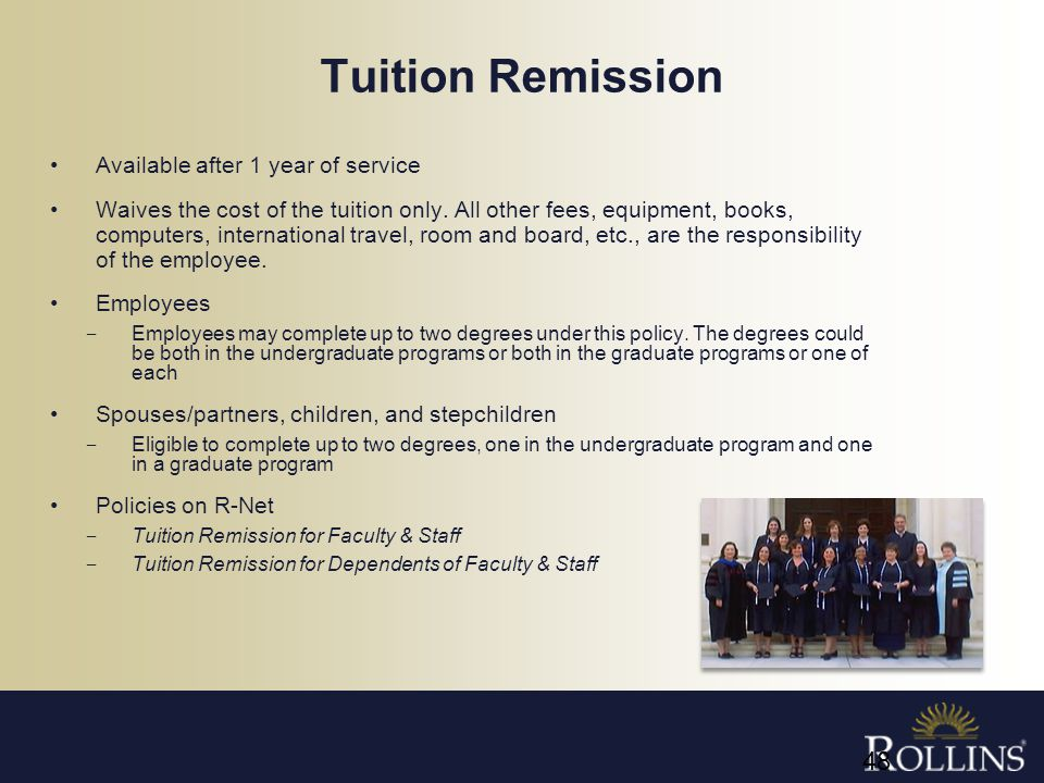 Tuition Remission Available after 1 year of service