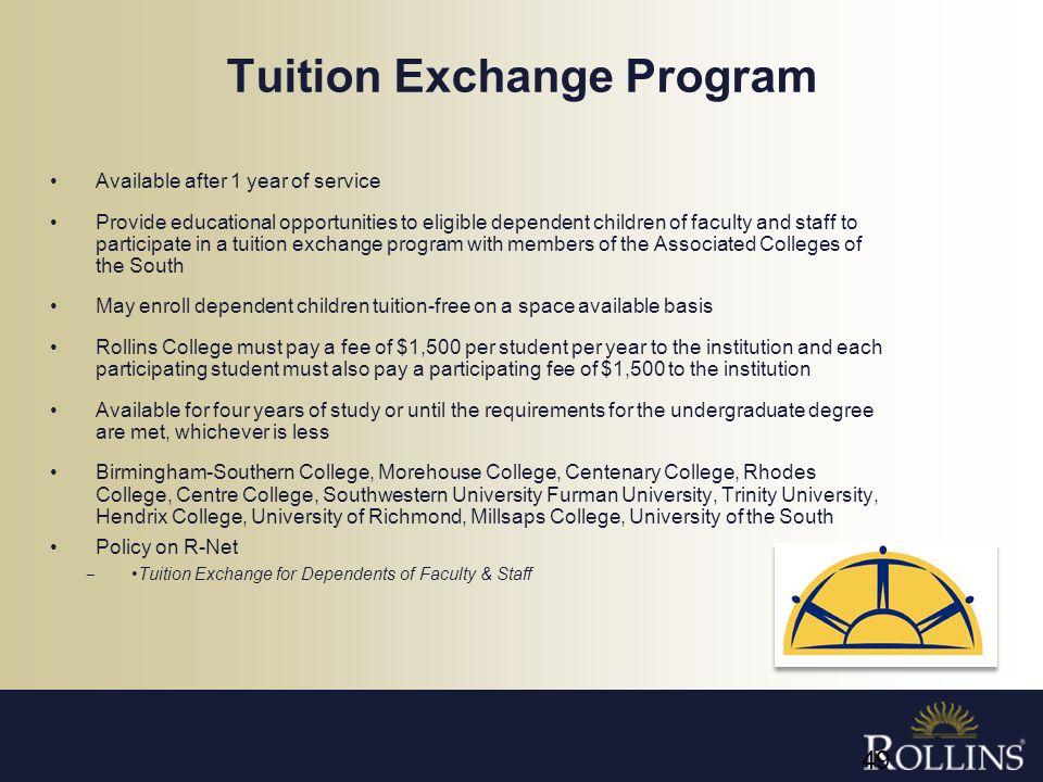 Tuition Exchange Program