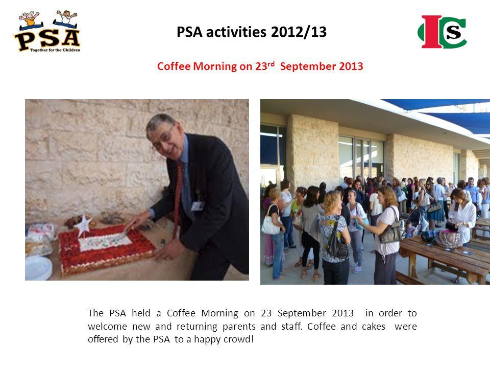 Coffee Morning on 23rd September 2013