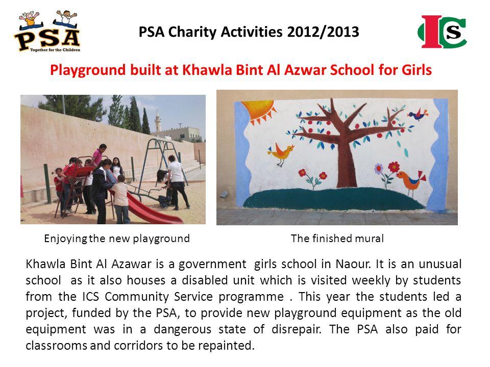 PSA Charity Activities 2012/2013