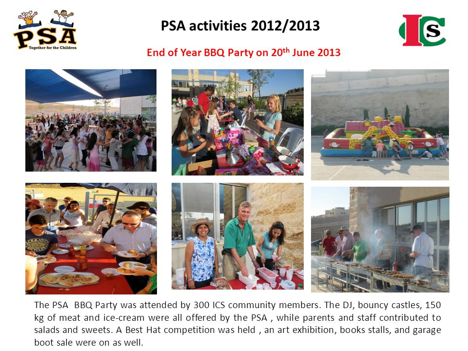 PSA activities 2012/2013 End of Year BBQ Party on 20th June 2013