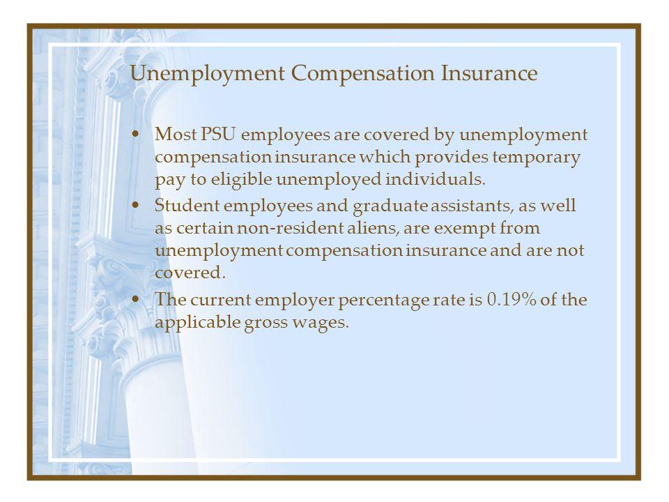 Unemployment Compensation Insurance