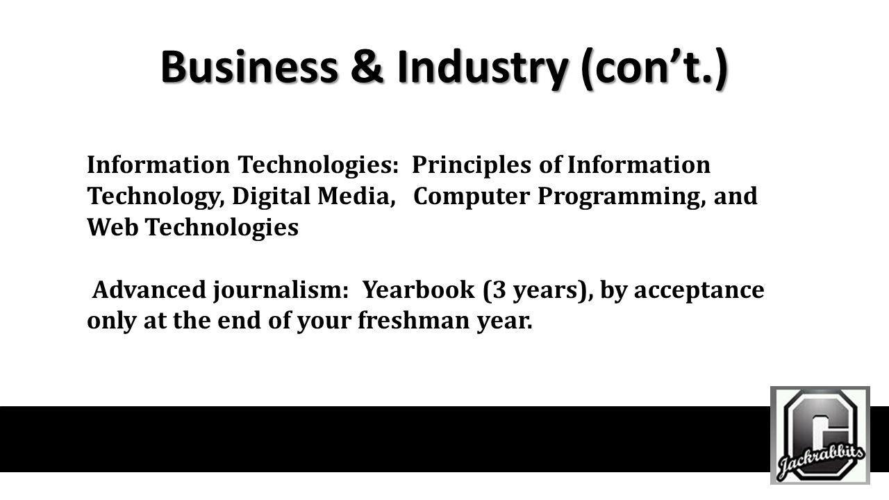 Business & Industry (con't.)