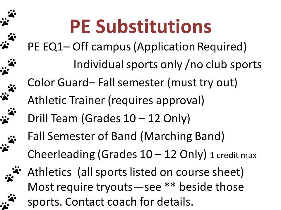 PE Substitutions