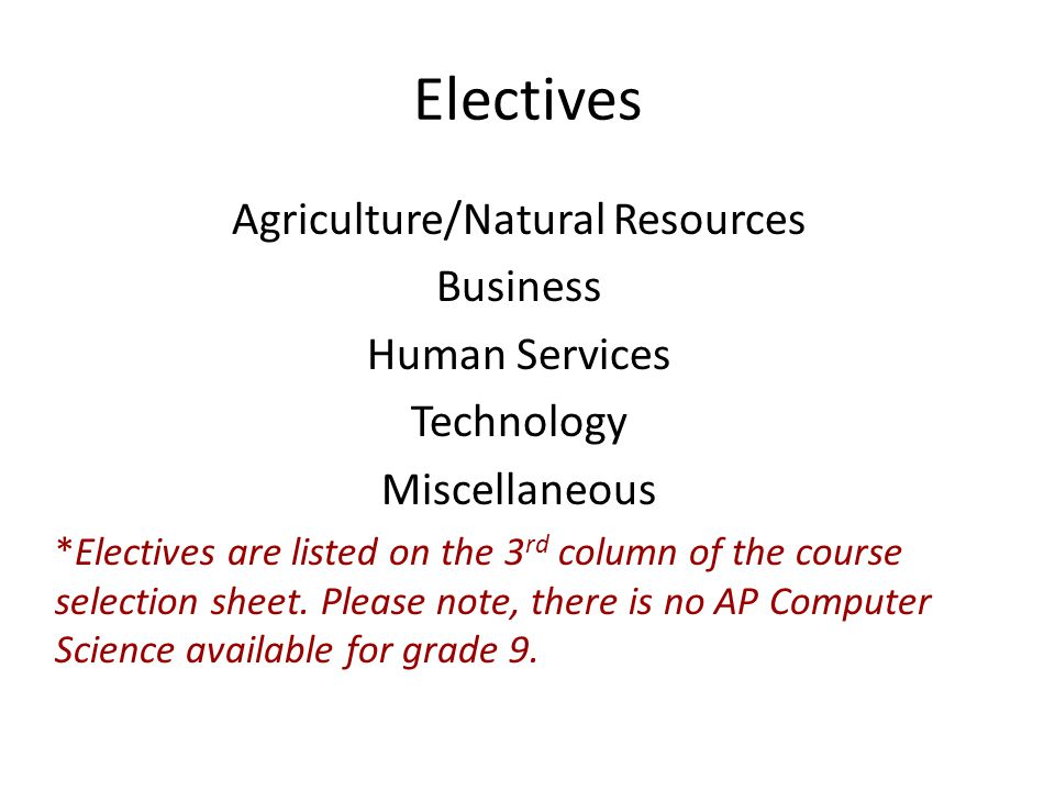 Agriculture/Natural Resources