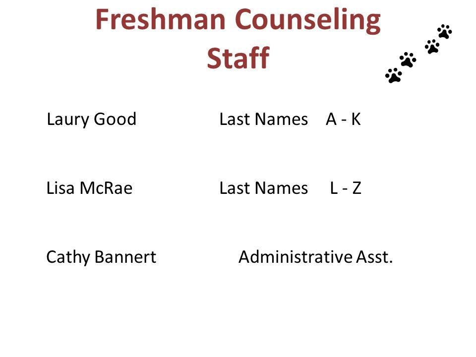 Freshman Counseling Staff