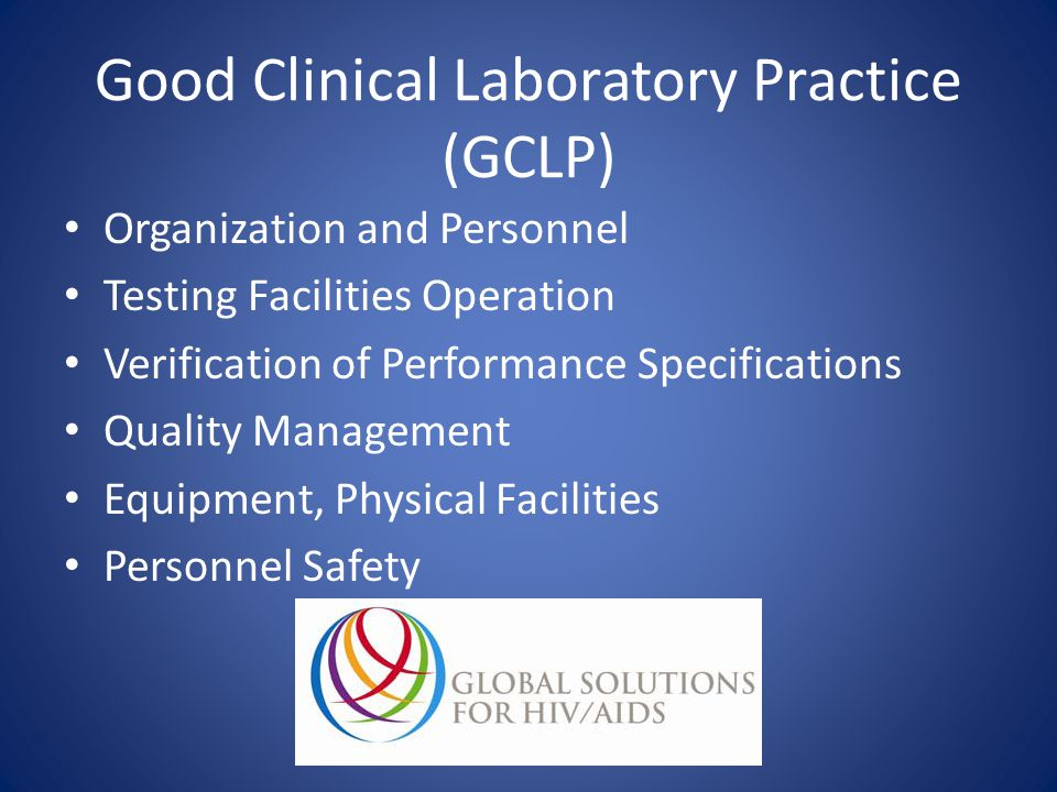 Good Clinical Laboratory Practice (GCLP)