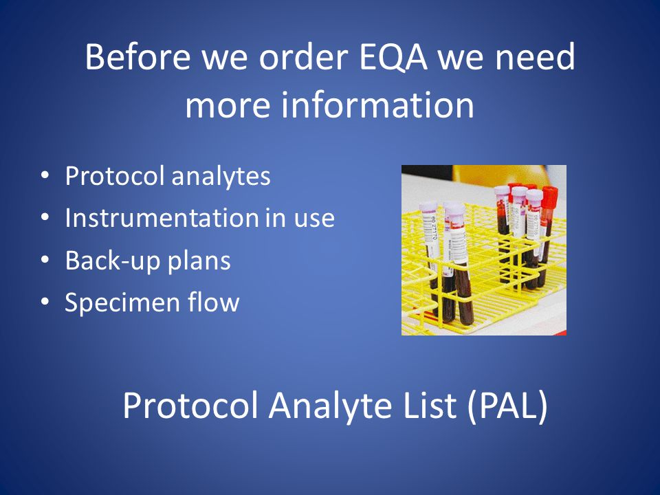 Before we order EQA we need more information