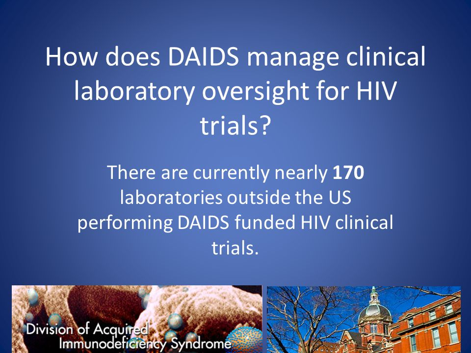 How does DAIDS manage clinical laboratory oversight for HIV trials