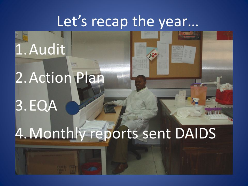 Monthly reports sent DAIDS