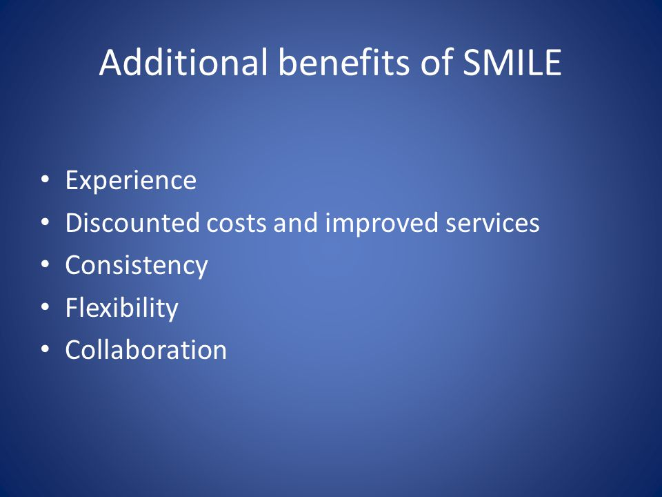Additional benefits of SMILE