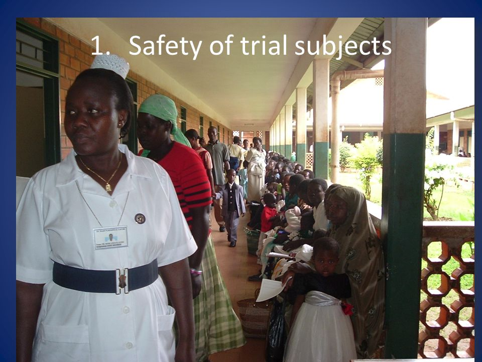 Safety of trial subjects