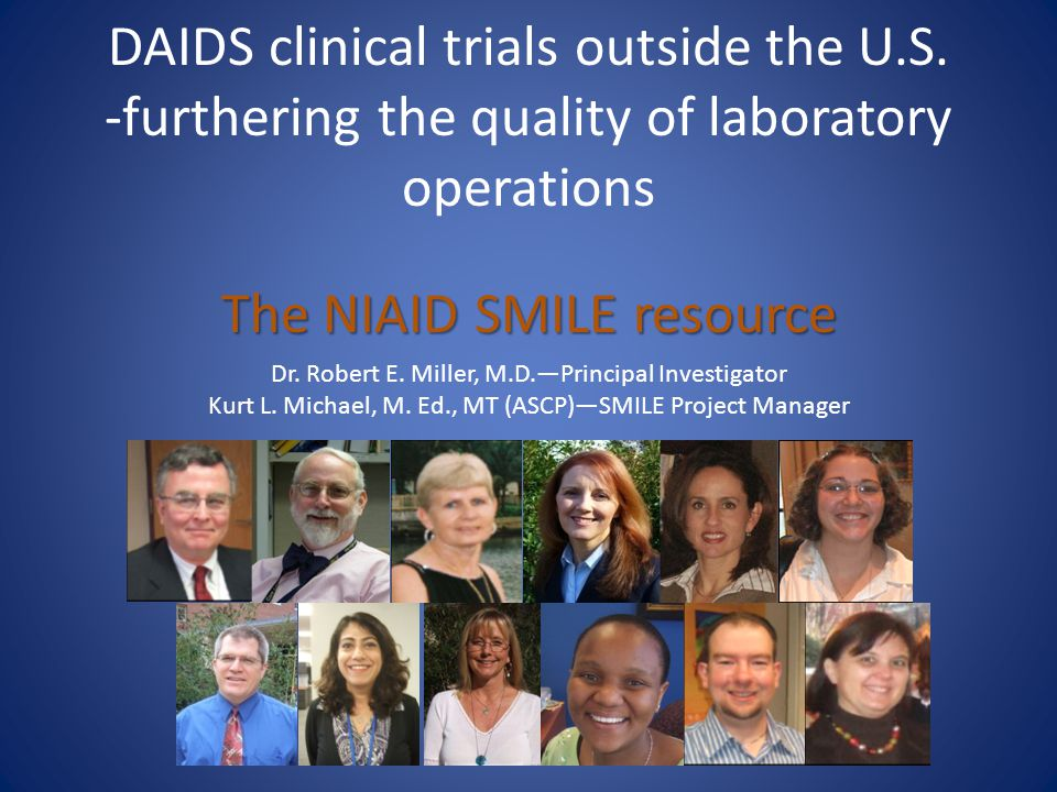 DAIDS clinical trials outside the U. S