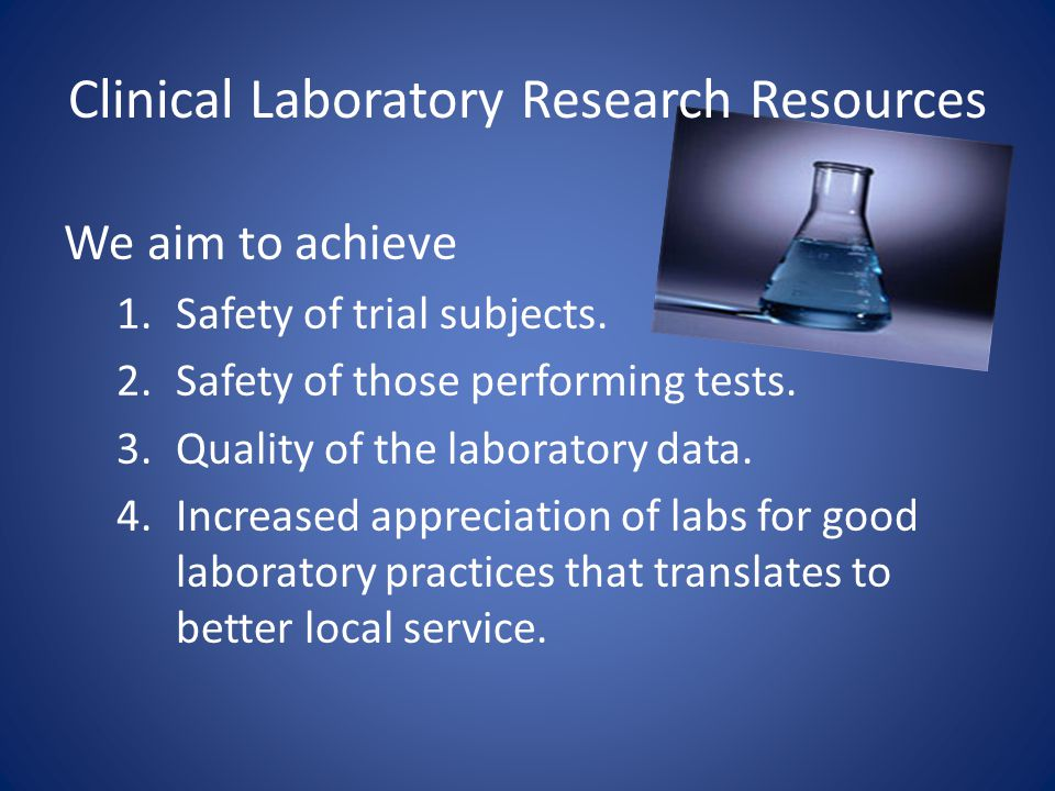 Clinical Laboratory Research Resources