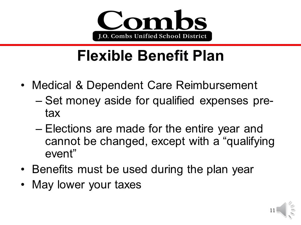 Flexible Benefit Plan Medical & Dependent Care Reimbursement