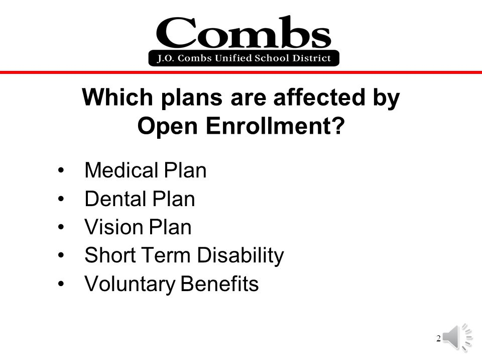 Which plans are affected by Open Enrollment