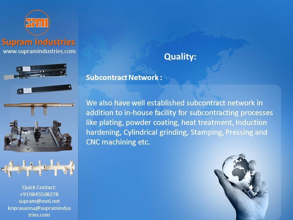 supram@vsnl.net knprasanna@supramindustries.com