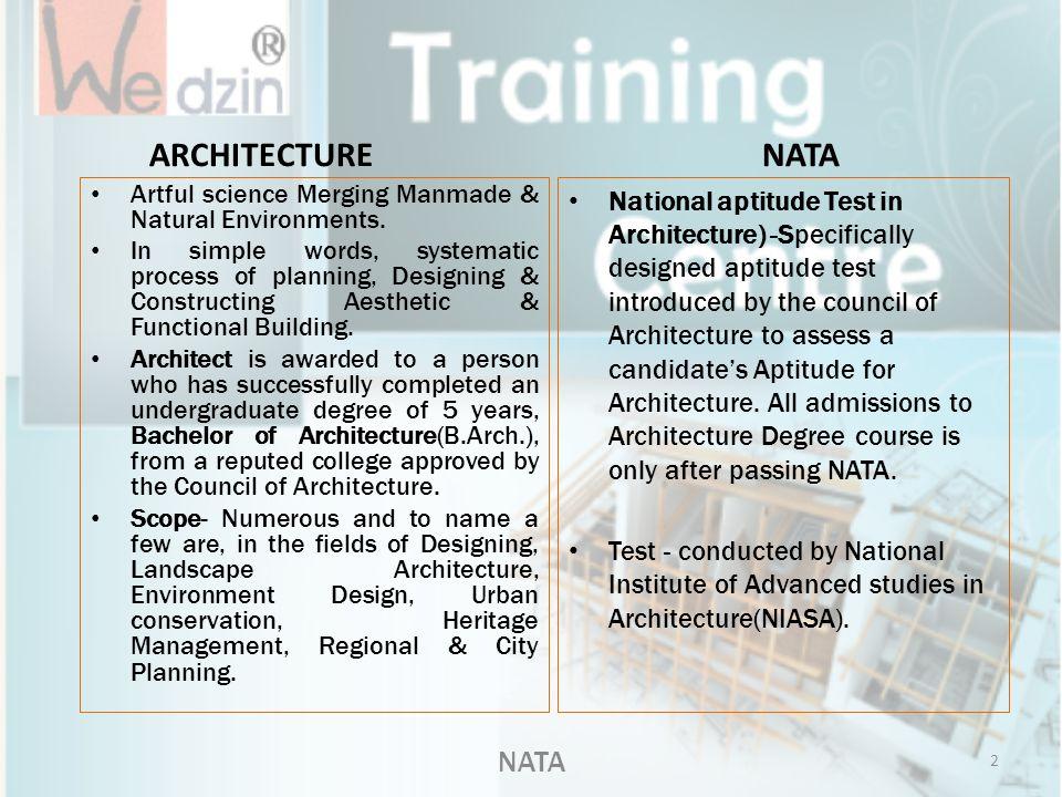 ARCHITECTURE NATA NATA