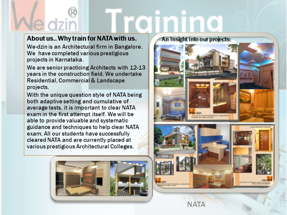 NATA About us.. Why train for NATA with us.