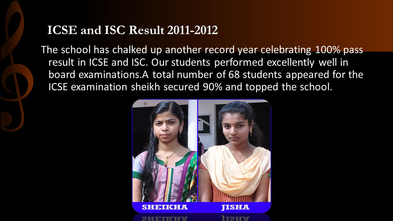 ICSE and ISC Result 2011-2012