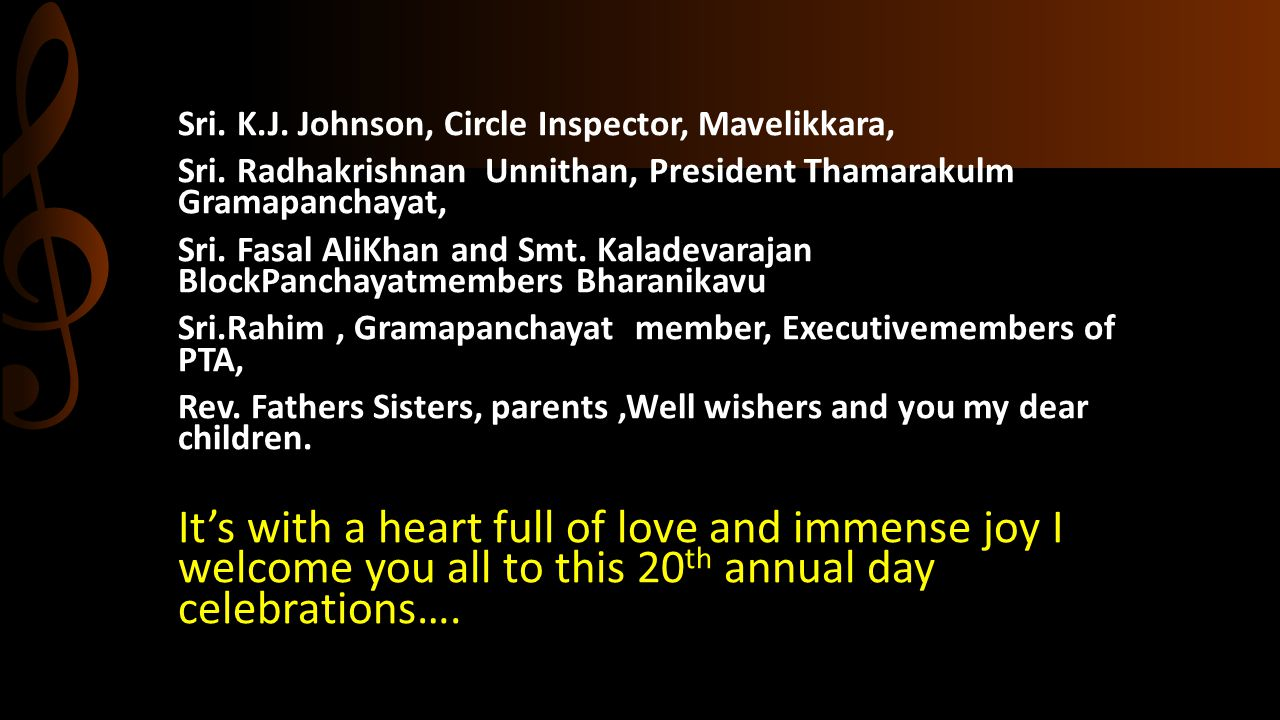 Sri. K.J. Johnson, Circle Inspector, Mavelikkara,