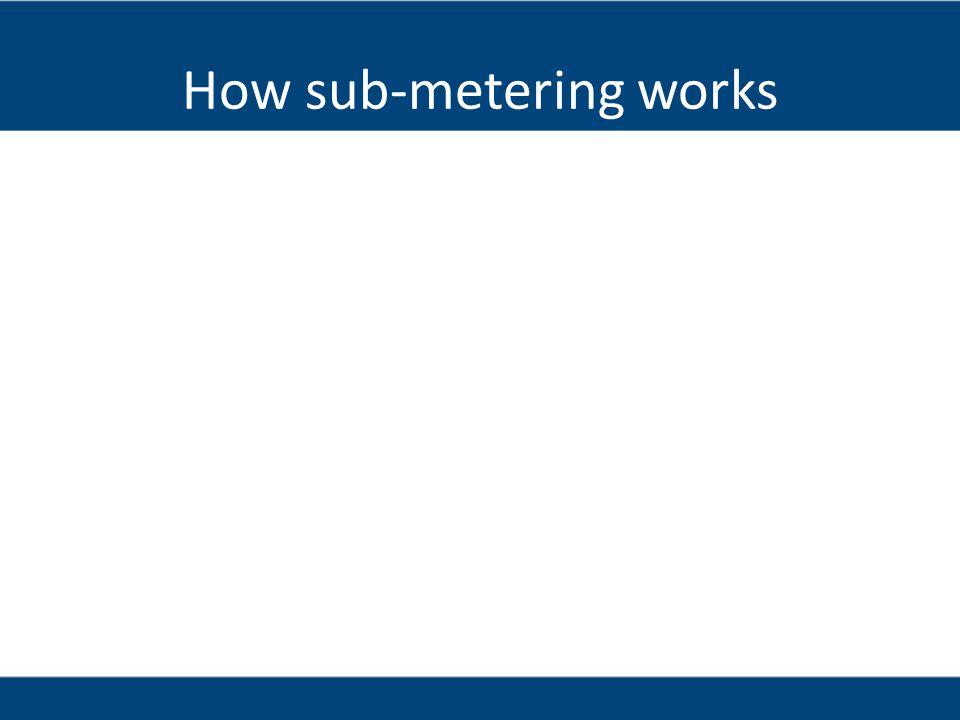 How sub-metering works
