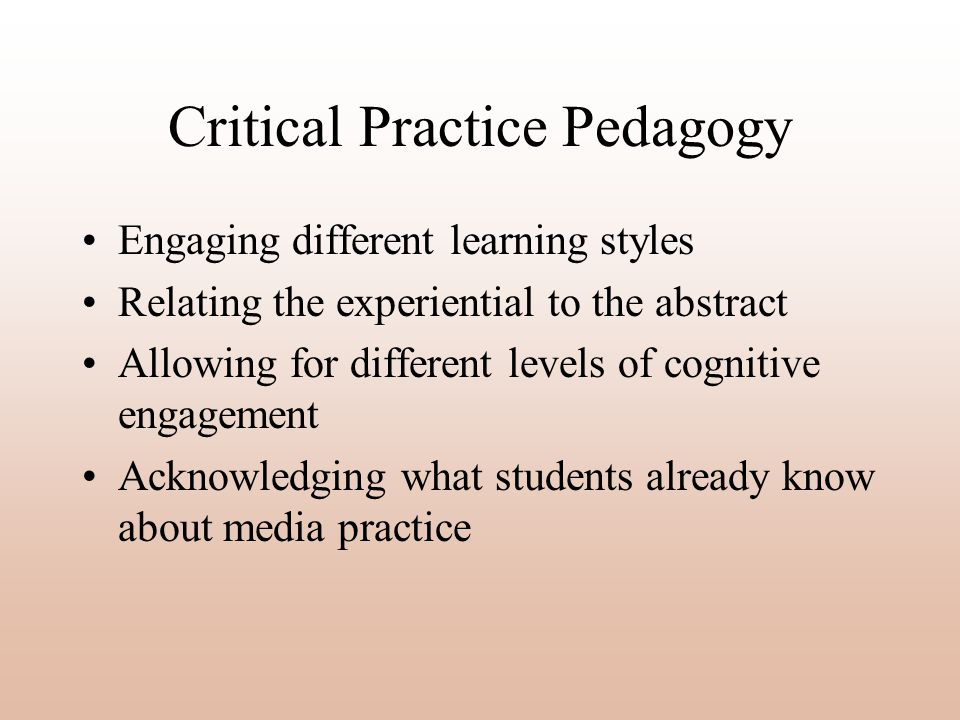 Critical Practice Pedagogy