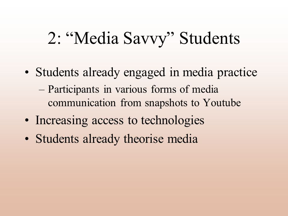 2: Media Savvy Students