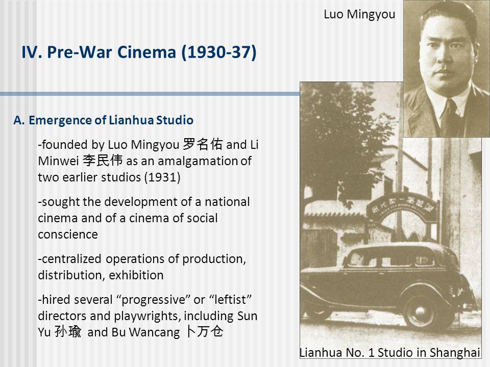 IV. Pre-War Cinema (1930-37) Luo Mingyou
