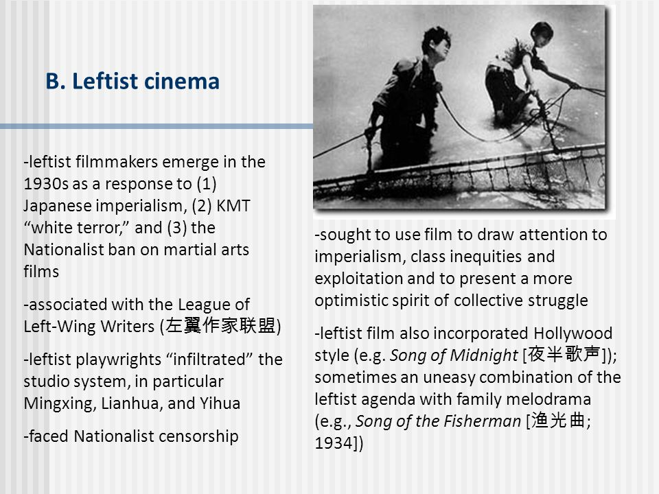 B. Leftist cinema
