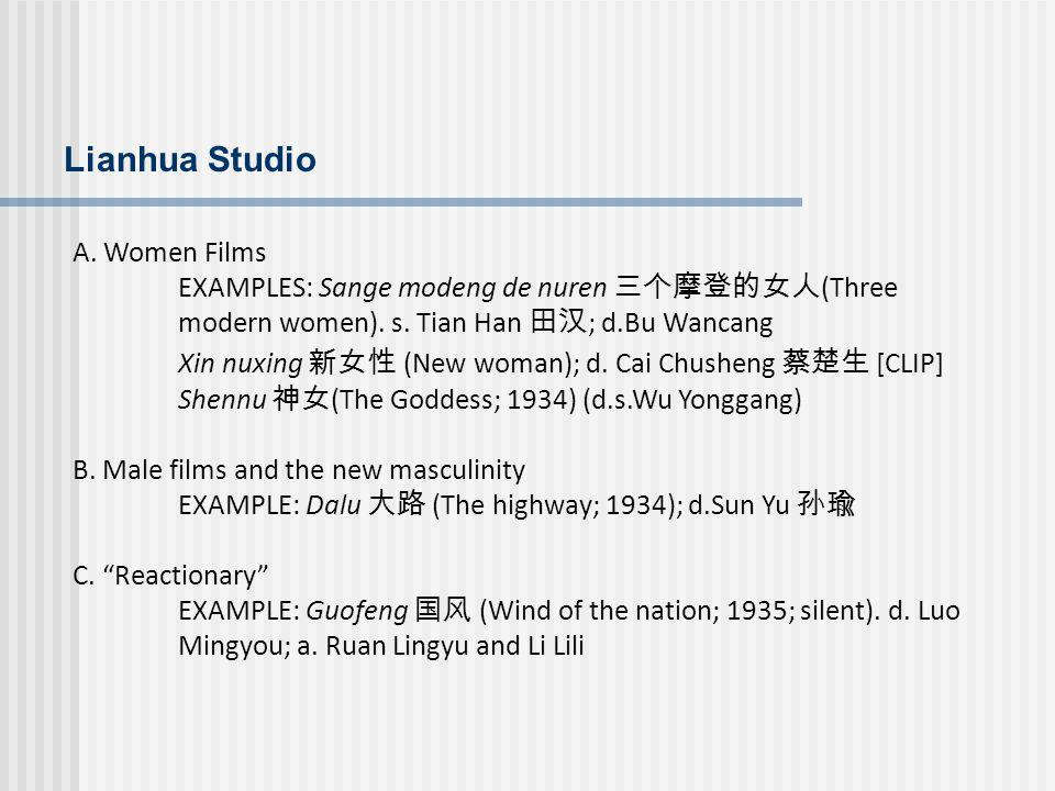 Lianhua Studio A. Women Films