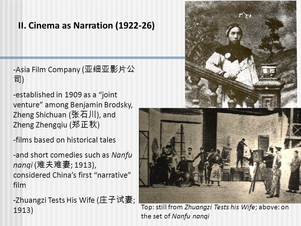 II. Cinema as Narration (1922-26)