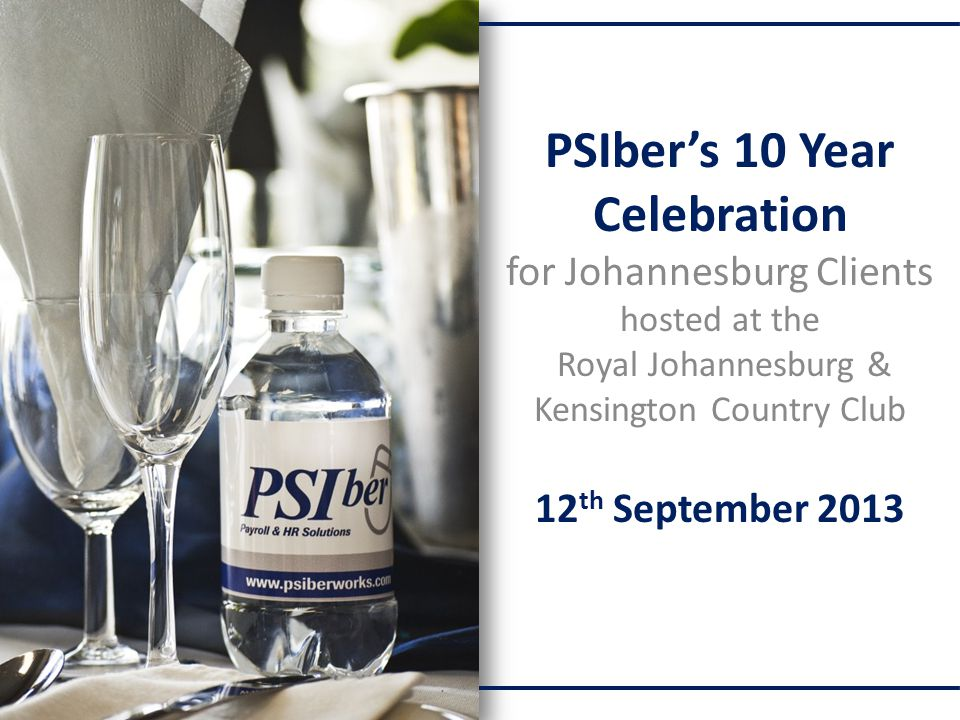 PSIber's 10 Year Celebration