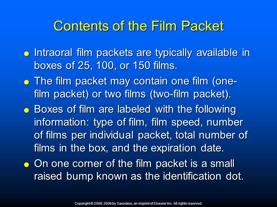 Contents of the Film Packet