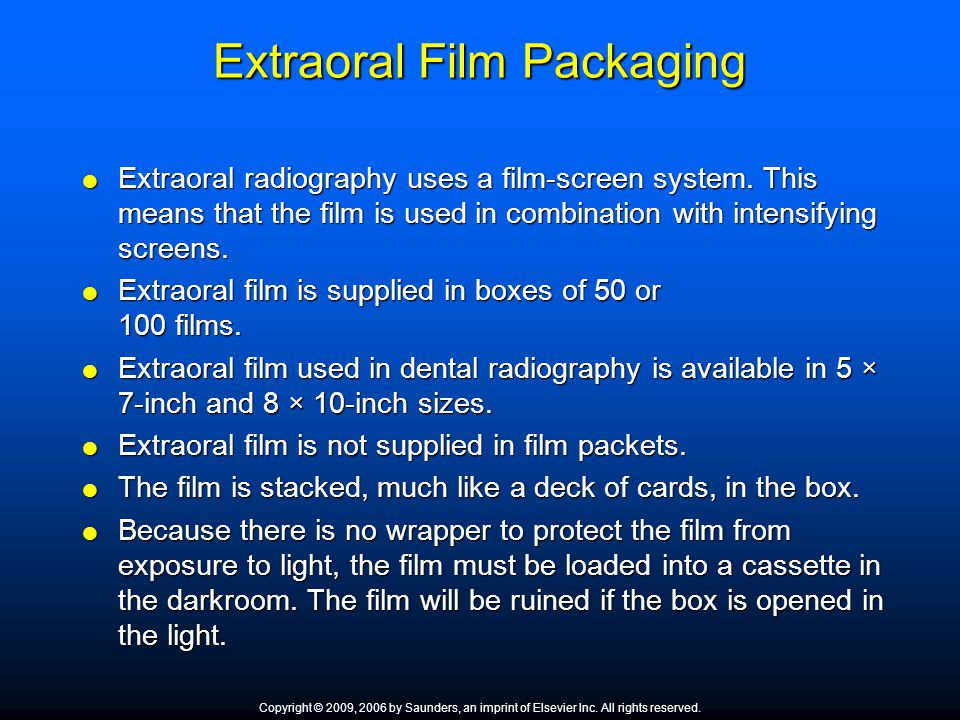 Extraoral Film Packaging