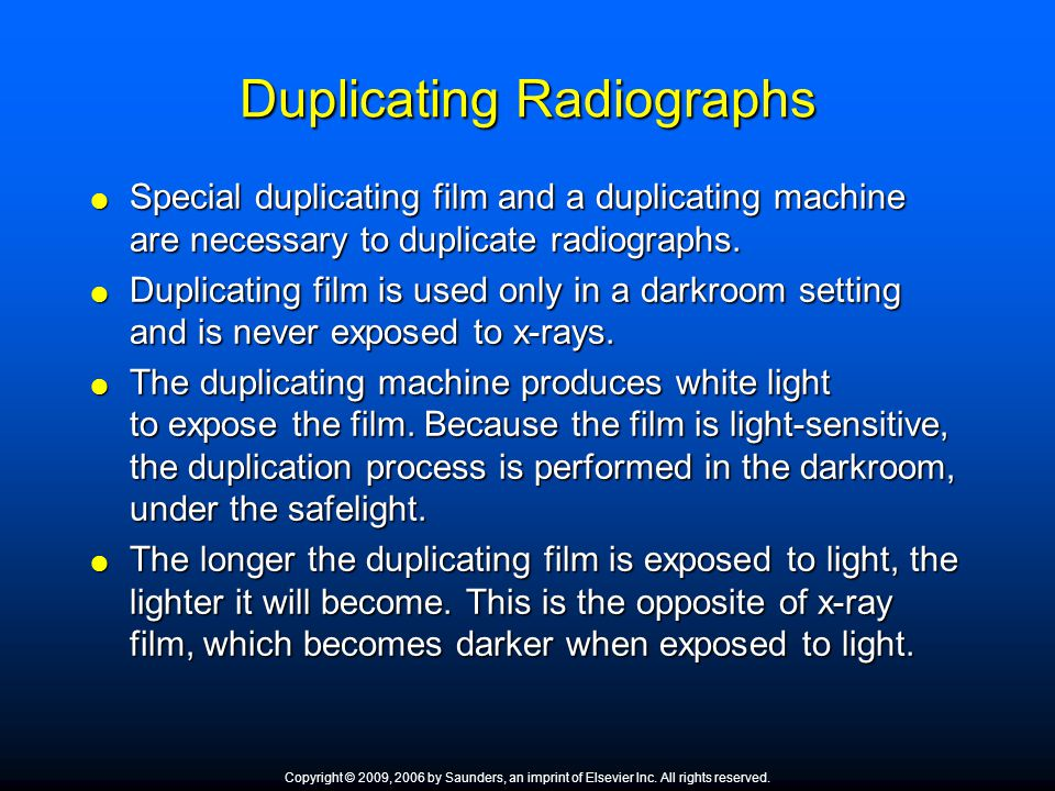 Duplicating Radiographs