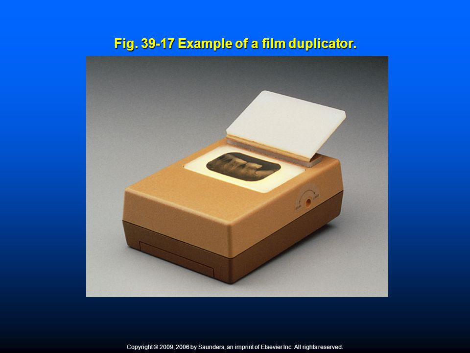 Fig. 39-17 Example of a film duplicator.