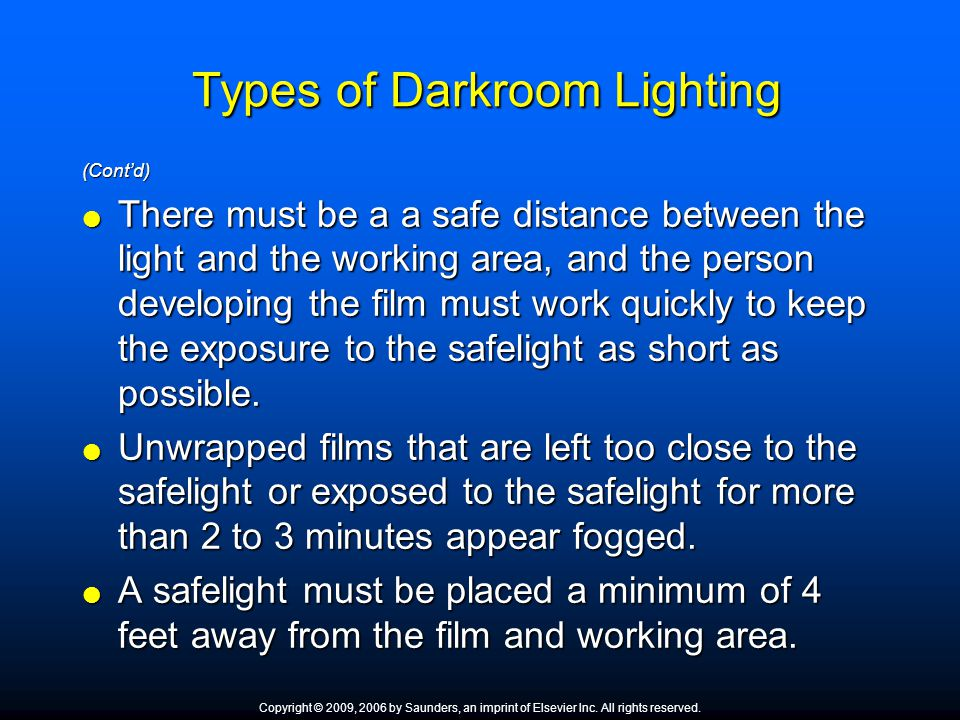 Types of Darkroom Lighting