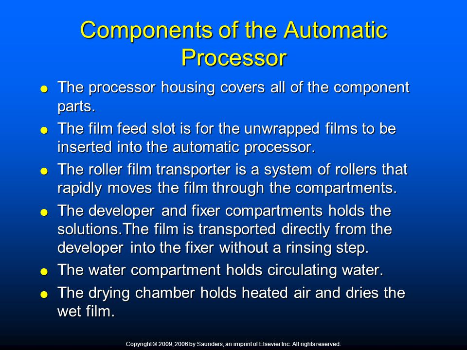 Components of the Automatic Processor