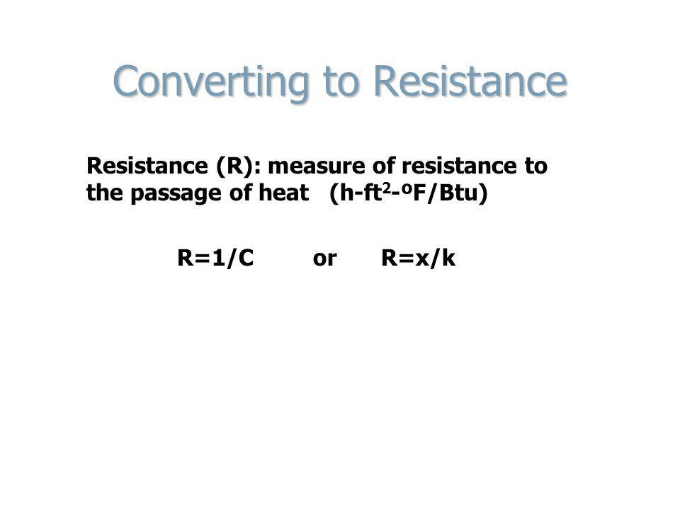 Converting to Resistance