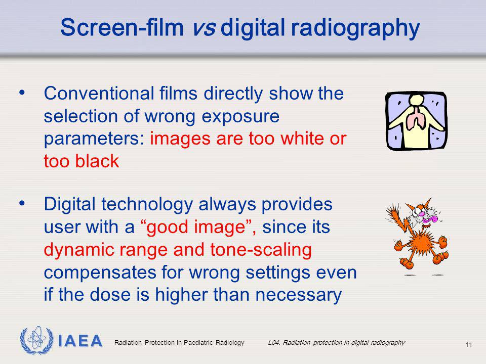 vs exposure in radiology penetration