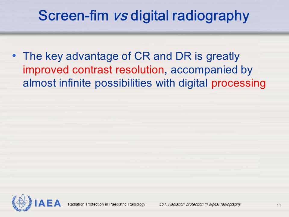 Screen-fim vs digital radiography