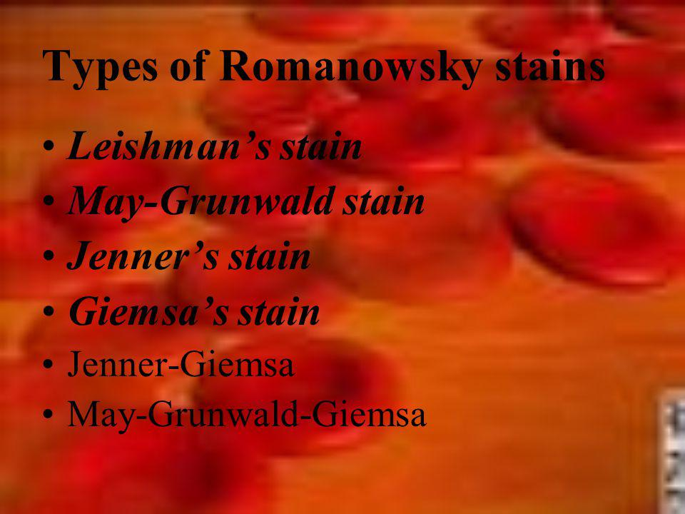 Types of Romanowsky stains