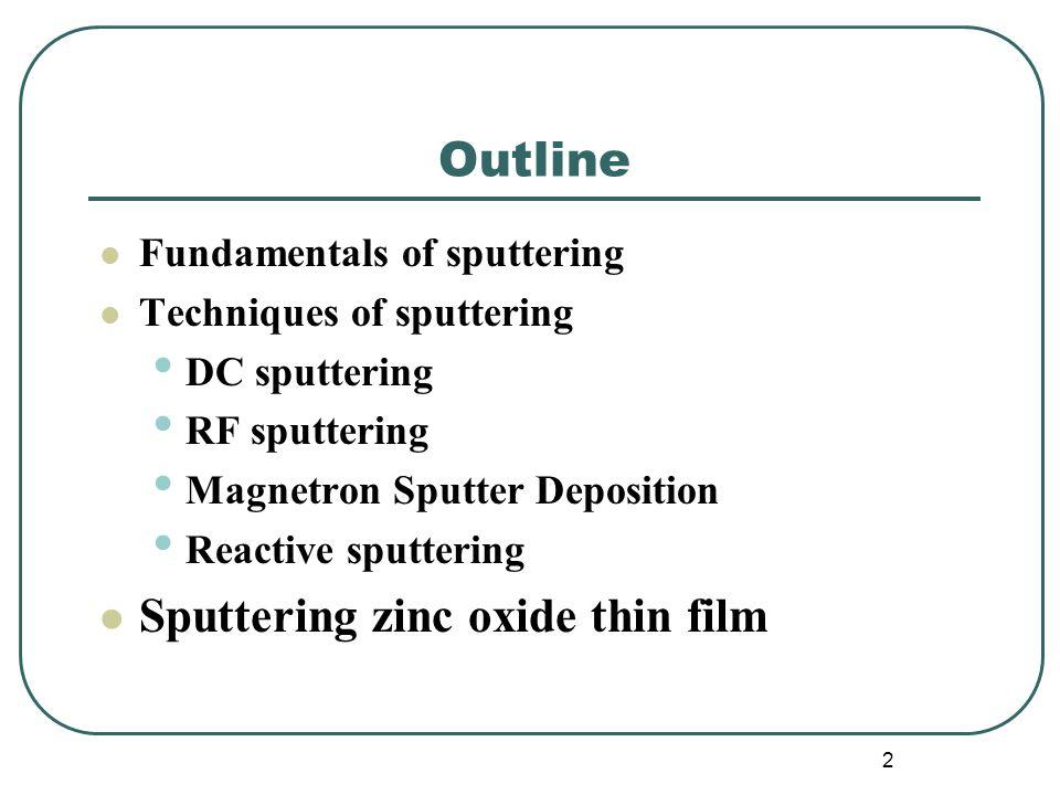 Sputtering zinc oxide thin film
