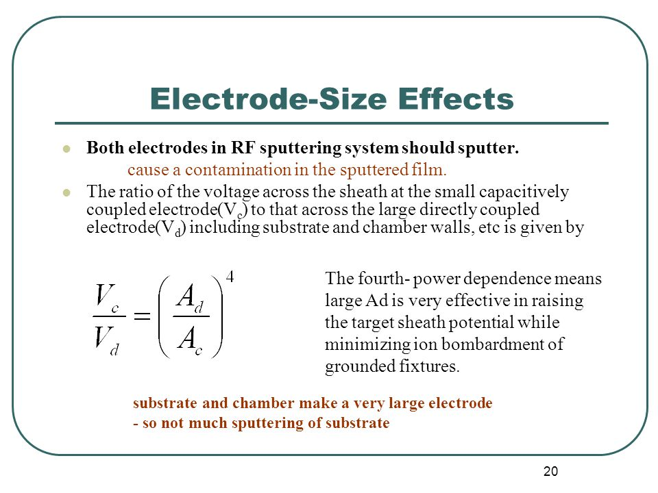 Electrode-Size Effects